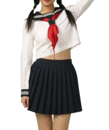High waisted Long Sleeves School Uniform Cosplay Costume