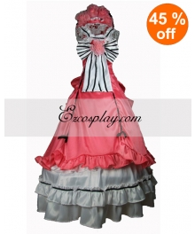 Cotton Pink Sleevless Gothic Lolita Dress