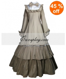 Cutton Off-white Long Sleeve Classic Lolita Dress
