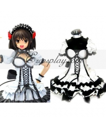 The Melancholy of Haruhi Suzumiya Black Dress Lolita Cosplay Costume