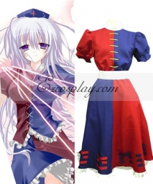 Touhou Project Mooner Yagokoro Eirin Cosplay Costume