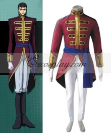Code Geass Gilbert G-P Guilford Cosplay Costume