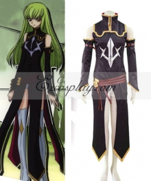 Code Geass C.C Black Suit Cosplay Costume
