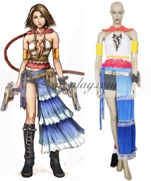 Final Fantasy X-2 FF10-2 Yuna Cosplay Costume