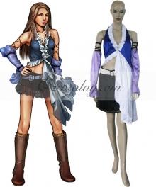 Final Fantasy X-2 Yuna Lenne Singing Cosplay Costume