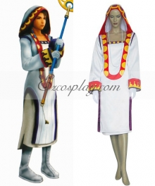 Final Fantasy X-2 FF10-2 Yuna White Mage Cosplay Costume