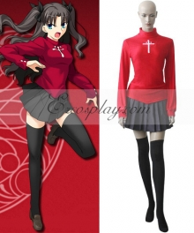 Fate Stay Night Rin Tohsaka Cosplay Costume