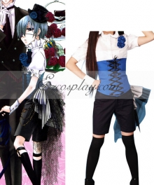 Black Butler Ciel Phantomhive Short Shirt Cosplay Costume