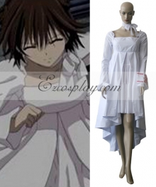 Vampire Knight Yuuki Cross White Gown Cosplay Costume