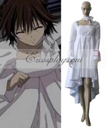 Vampire Knight Yuuki Cross White Gown Cosplay Costume