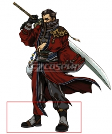 Final Fantasy FFX Auron Black Cosplay Shoes