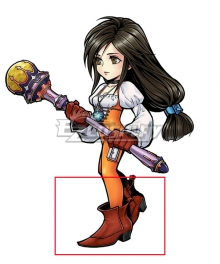 Final Fantasy IX FF9 Garnet til Alexandros Red Cosplay Shoes