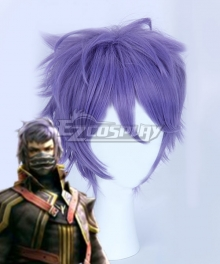 Final Fantasy Type-0 Kurasame Susaya Purple Cosplay Wig