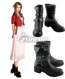 Final Fantasy VII Remake Aerith Gainsborough Black Cosplay Shoes