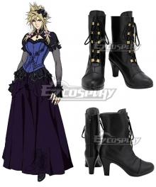 Final Fantasy VII Remake Cloud Strife Girl Ver2 Black Cosplay Shoes
