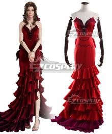 Final Fantasy VII Remake FF7 Aerith Gainsborough Red Cosplay Costume