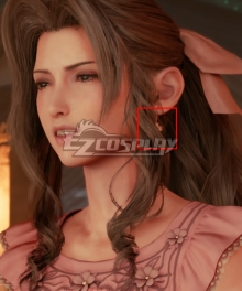 Final Fantasy VII Remake FF7 Aerith Gainsborough Ver2 Earring Cosplay Accessory Prop