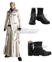 Final Fantasy VII Remake FF7 Rufus Shinra Black Cosplay Shoes