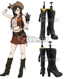 Final Fantasy VII Remake FF7 Tifa Lockhart Cowgirl Brown Shoes Cosplay Boots
