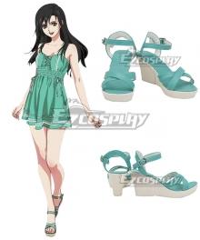 Final Fantasy VII Remake FF7 Tifa Lockhart Young Green Cosplay Shoes