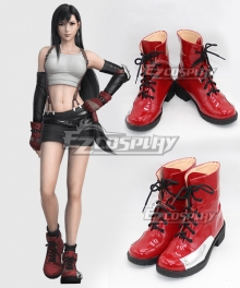 Final Fantasy VII Tifa Lockhart Red Shoes Cosplay Boots