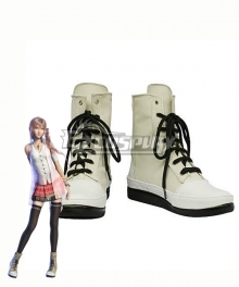 Final Fantasy XIII FF13 Serah Farron White Shoes Cosplay Boot