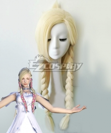 Final Fantasy XIV: A Realm Reborn Minfilia Warde Golden Cosplay Wig