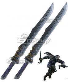 Final Fantasy XIV: A Realm Reborn Ninja Double Sword Cosplay Weapon Prop