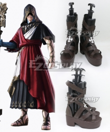 Final Fantasy XIV Crystal Exarch Brown Shoes Cosplay Shoes