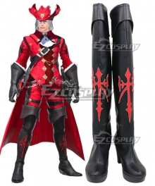 Final Fantasy XIV ff14 X'hrun Tia Black Cosplay Boots