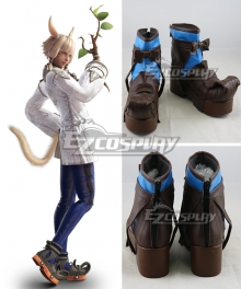 Final Fantasy XIV FF14 Y'shtola Rhul Yshtola Rhul Black Cosplay Shoes