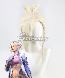Final Fantasy XIV Minfilia Warde Light Golden Cosplay Wig