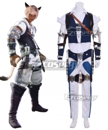Final Fantasy XIV Miqo'te Male Cosplay Costume