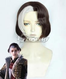 Final Fantasy XIV Solus zos Galvus Brown White Cosplay Wig