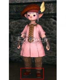 Final Fantasy XIV Tataru Taru Khaki Cosplay Shoes