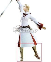 Final Fantasy XIV White Mage Brown Shoes Cosplay Boots
