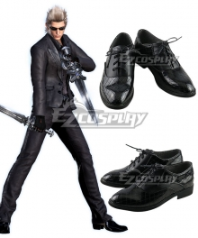 Final Fantasy XV Ignis Stupeo Scientia Black Cosplay Shoes
