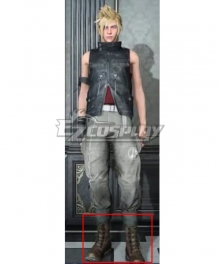 Final Fantasy XV Prompto Argentum Brown Cosplay Shoes