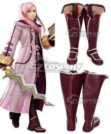 Fire Emblem: Awakening Female Robin Rhonda Black Pink Shoes Cosplay Boots