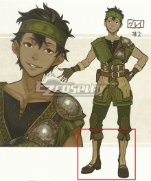 Fire Emblem Echoes: Shadows of Valentia Gray Brown Shoes Cosplay Boots