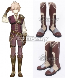 Fire Emblem Echoes: Shadows Of Valentia Kliff Brown Shoes Cosplay Boots