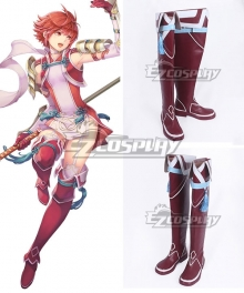 Fire Emblem Fates IF Hinoka Red Shoes Cosplay Boots