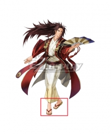 Fire Emblem Heroes Ryoma Dancing Samurai Red Cosplay Shoes