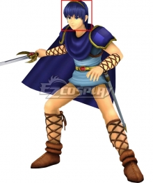 Fire Emblem Marth Blue Cosplay Wig
