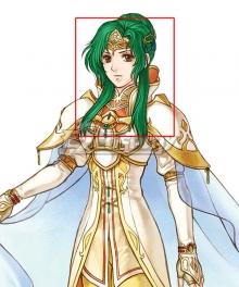 Fire Emblem Radiant Dawn Elincia Green Cosplay Wig
