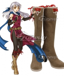 Fire Emblem: Radiant Dawn Micaiah Brown Shoes Cosplay Boot