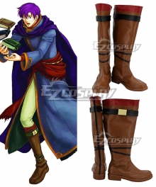 Fire Emblem: The Blazing Blade Canas Brown Shoes Cosplay Boots