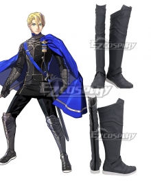 Fire Emblem: Three Houses Dimitri Alexandre Bladud Grey Shoes Cosplay Boots