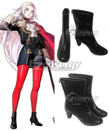 Fire Emblem: Three Houses Edelgard Von Hresvelg Black Cosplay Shoes