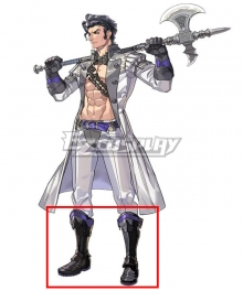 Fire Emblem: Three Houses indered Shadows Balthus Black Purple Shoes Cosplay Boots